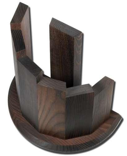 Messerblock leer, magnetisch, Makassarholz