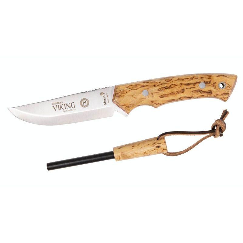 MUELA Bushcraft Messer Viking Curly Birch