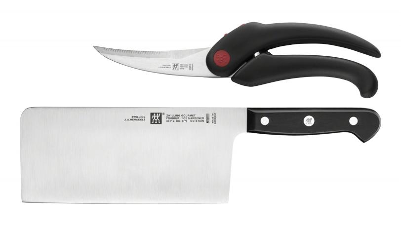 Messerset 2-tlg Chin. Kochmesser und Geflügelschere