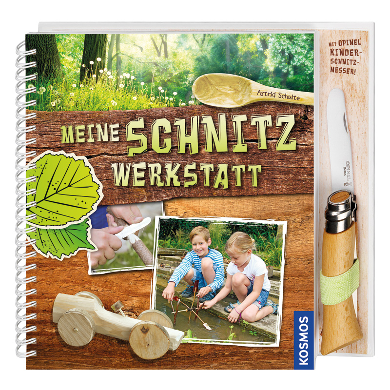 Buch Schnitzwerkstatt mit Opinel Kindermesser
