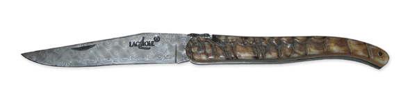 Damast Taschenmesser Widderhorn